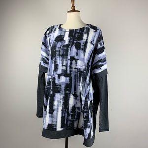 Cozy and Soft Vera Wang Sweater Grey Smoke Purple